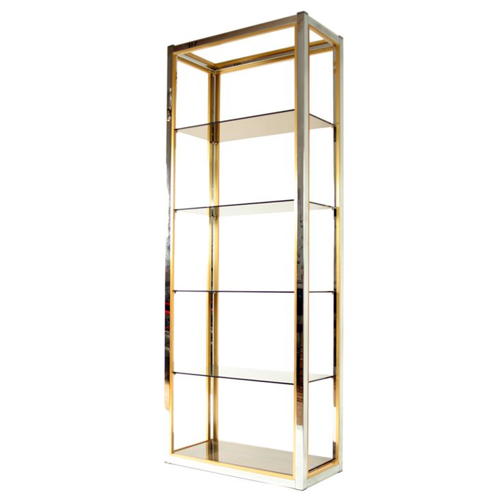 1970s italian chrome brass and glass etagere shelves. Black Bedroom Furniture Sets. Home Design Ideas