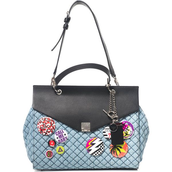Guess Medium size bag ($155) ❤ liked on Polyvore featuring bags, handbags, shoulder bags, guess shoulder handbags, white shoulder bag, denim shoulder bag, guess purses and denim purses