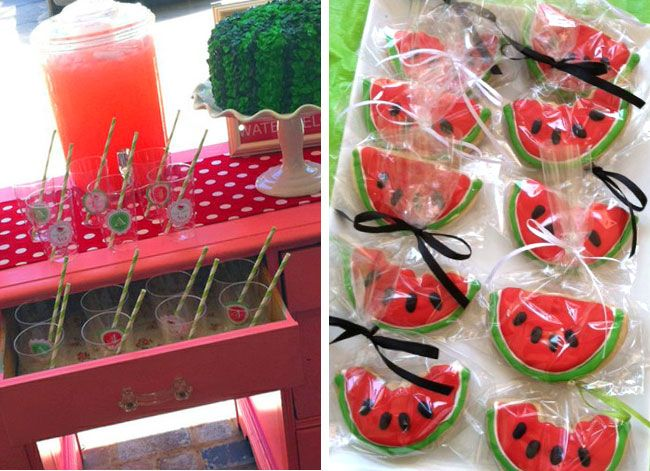 Watermelon Birthday Party. Cute summer party!