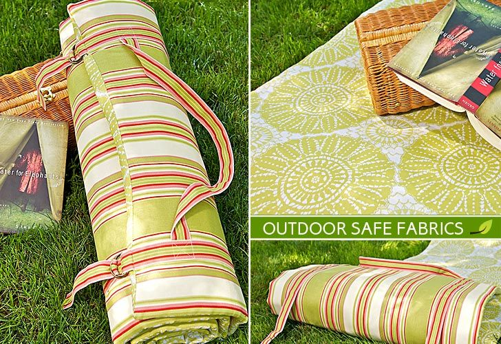 Summer Fun: Outdoor Padded ROll-up Cushion | Editor: Liz Johnson | Project Design: Alicia Thommas  |     Sample Creation, Pattern Design and Instructional Outline: Michele Mishler | Around these parts, Summer is prime time for outdoor concerts. Seating for these events is usually just the grassy slopes of a natural amphitheater. You gotta bring something to sit on. | From: sew4home.com