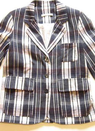 Стильный пиджак в клетку -sessun+ за+70+грн.