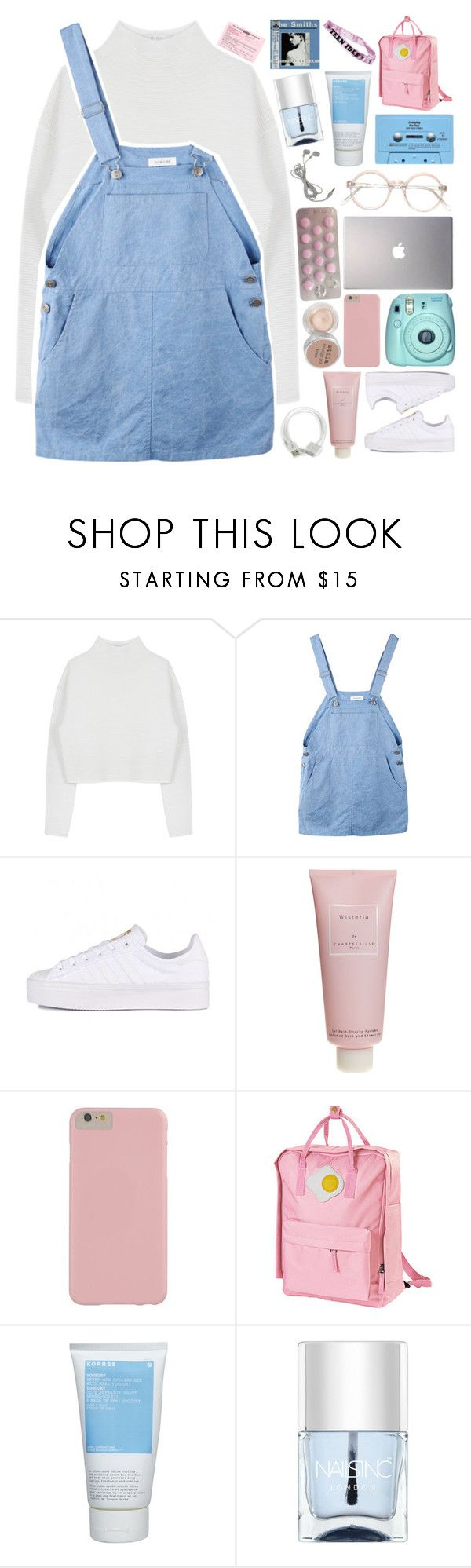 """""""HIT ME WITH YOUR SWEET LOVE STEAL ME WITH A KISS // MARIANA AND THE DIAMONDS"""" by grunge-alien ❤ liked on Polyvore featuring Dion Lee, adidas Originals, Chantecaille, Polaroid, Samsung, CASSETTE, Stila, Korres and Nails Inc."""