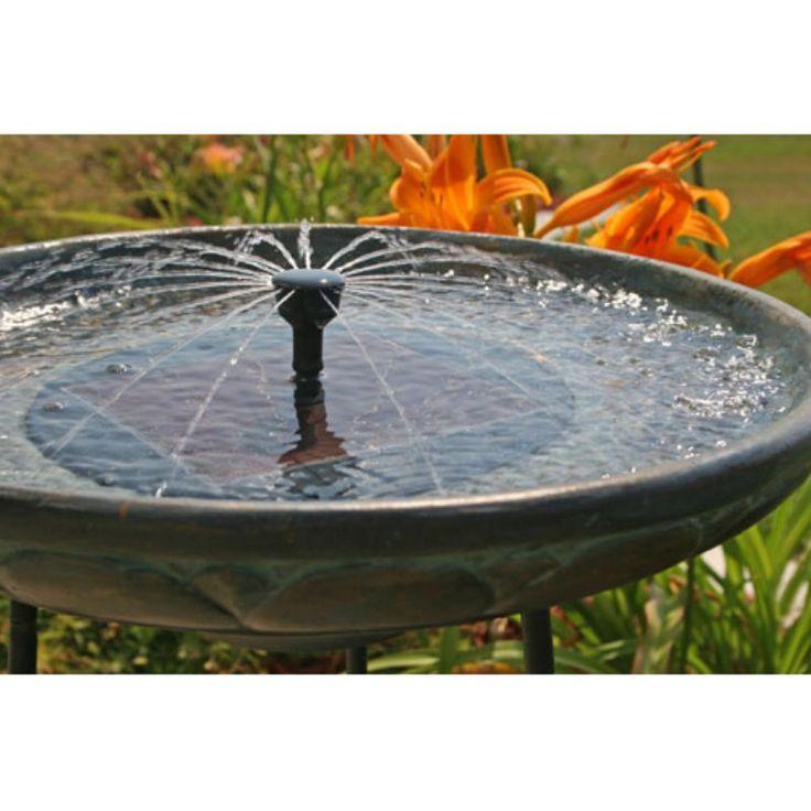 Smart Solar Somerset Verdigris Solar Bird Bath Fountain   Bird Baths At  Hayneedle