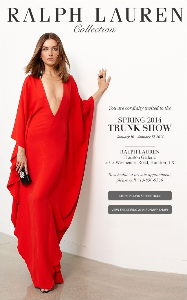 The South Coast Plaza Store Invites You To Our Spring Collection Trunk Show