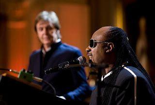 Stevie Wonder con Paul McCartney