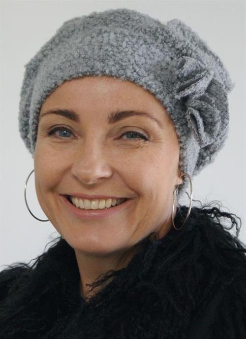 Hat Boucle efterår/vinter Lysegrå