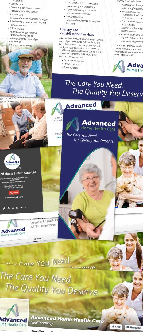 New Home Care Marketing Materials For Advanced Home Health Care Corecubed