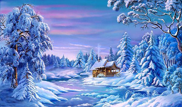 Christmas Scene Screensaver Wallpaper: 17 Best Images About Winter On Pinterest