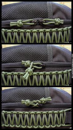 When traveling, do this tuck & they can't quickly open your bag & get stuff out! Lanyard knot zipper pull security tuck