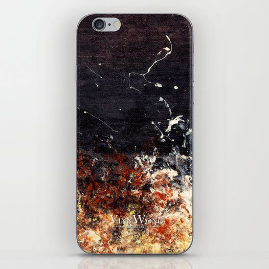 Black and orange abstract iPhone and iPod Skins by Vinn Wong | Full collection vinnwong.com | Visit the shop or Pin it For Later!