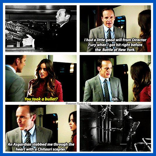 Agents of S.H.I.E.L.D. That girl's accent is offensive as I've never heard a English person speak like that in real life.
