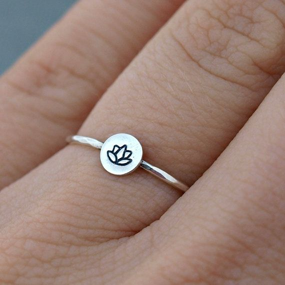 Silver Lotus Ring. Lotus Jewelry Sterling Silver on Etsy, $20.00