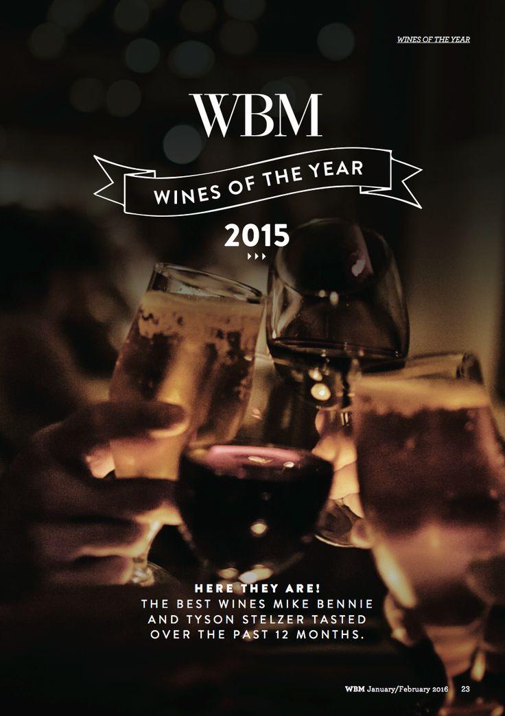 WBM Magazine January/February 2016 edition. Wines of the year article.
