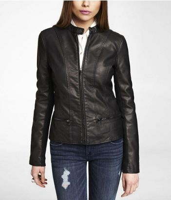 Lether Moto Jacket from Express - my favorite piece right now