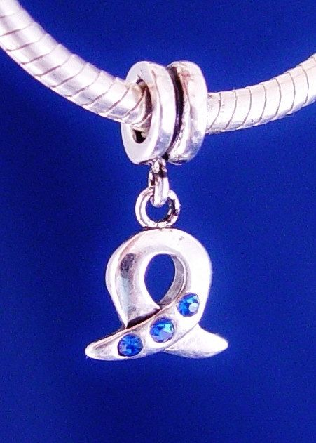Blue Dangle Down Downs Syndrome Awareness  European Charm Bead Silver Plated designed to fit your Bracelet or style on Etsy, £6.09