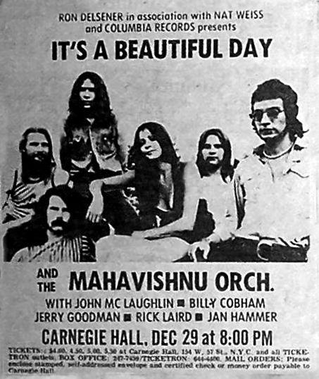 It's A Beautiful Day, Mahavishnu Orchestra Poster 1969