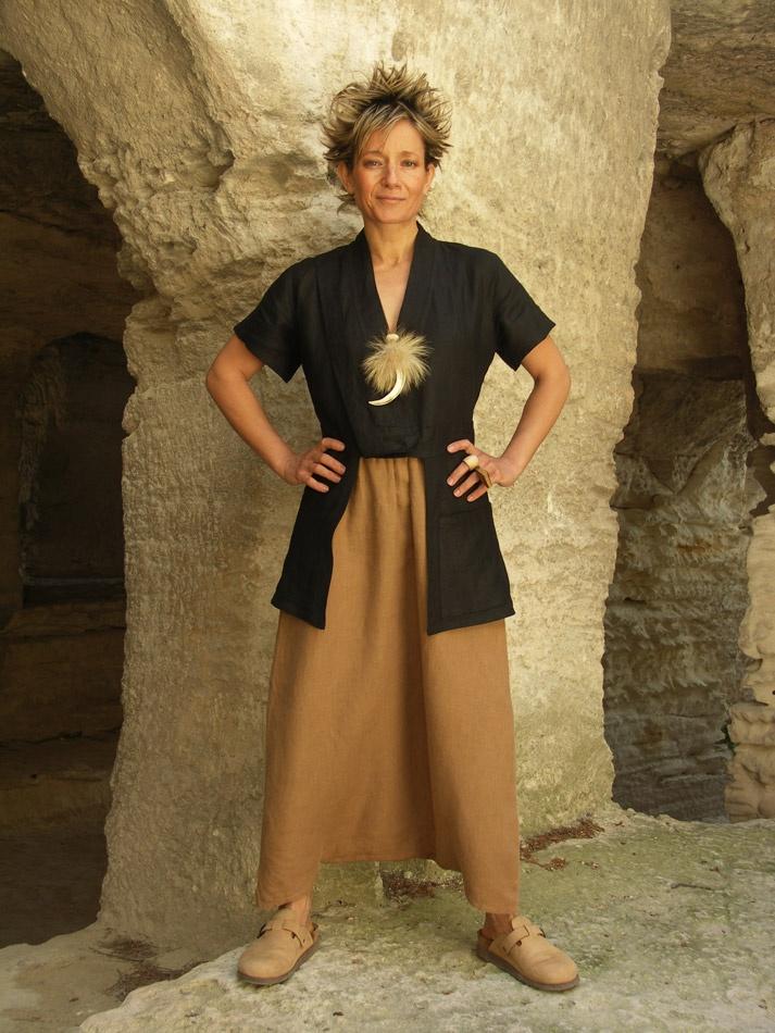 Original clothes:Saharan black linen jacket