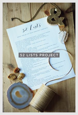 Great journaling prompts/lists to write: 1 per week :)
