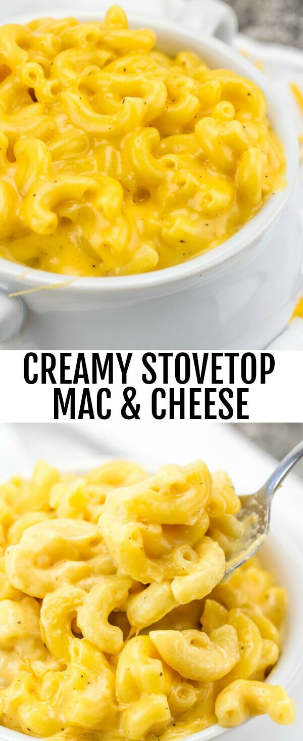 Creamy Stovetop Mac & Cheese {A Quick Easy Cheesy Weeknight Dinner} Mac and cheese/pasta/cheese Cheesy, creamy and delicious this Creamy Stovetop Mac & Cheese is a addicting one pot recipe for the whole family. via @amiller1119