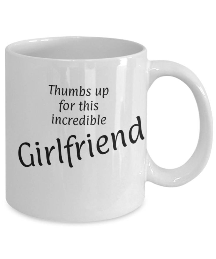 Sweetheart, Partner, Thumbs up for this Girlfriend, Fun coffee mug, Christmas gift Girlfriend, Girlfriend appreciation mug, Gift for her by expodesigns on Etsy