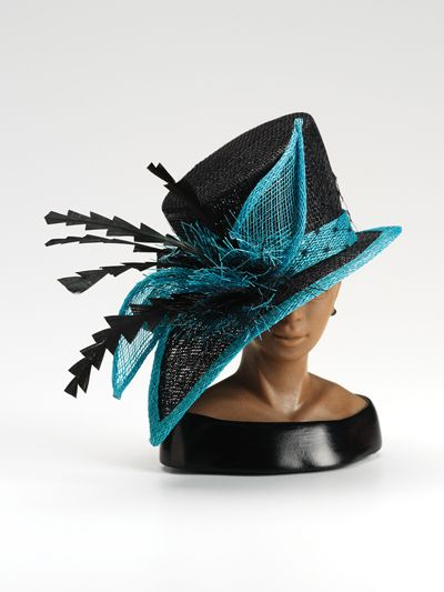 Alluring: Black Teal, Lovely Hats, Black Church Hats, Fascinator, Derby Hats, Beautiful Headwear, Color Combination, Bad Hats