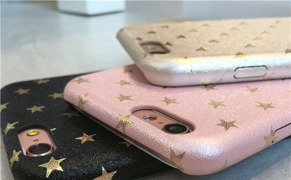 韓流 革貼り星柄 iPhone6/6S PLUS SE 7PLUS 携帯カバー20代愛用女子かわいい