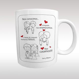 """Contigo Diseño: Tazas serie """"Enamorados"""""""