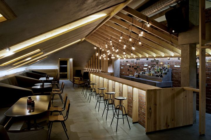 ATTIC bar by Inblum Architects, Minsk - Belarus