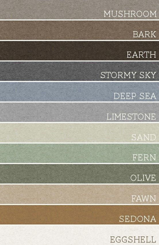 Take any set of 3 of these colors and each room would be amazing. A palette for the whole house! Grey and brown CAN work together!!