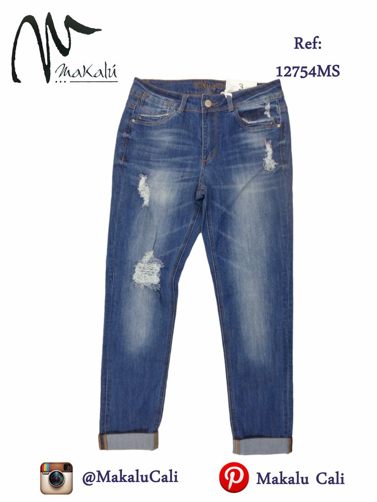 Pantalon ¨boyfriend¨ indicados para tus dias dificiles en los que optas por looks comodos. Moda Femenina - Tiendas Makalu #modafemenina #makalu #makalucali #tendencias #vacaciones #makalutesoro #makaluBahia #cali #colombia