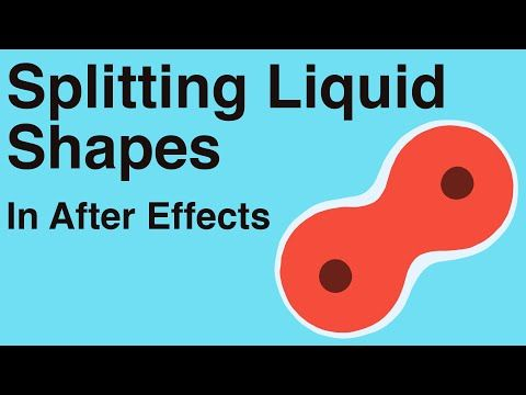 Splitting Liquid Shapes (like how cells divide) - Adobe After Effects tutorial - YouTube