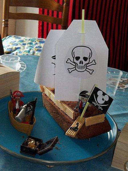gateau pirate party