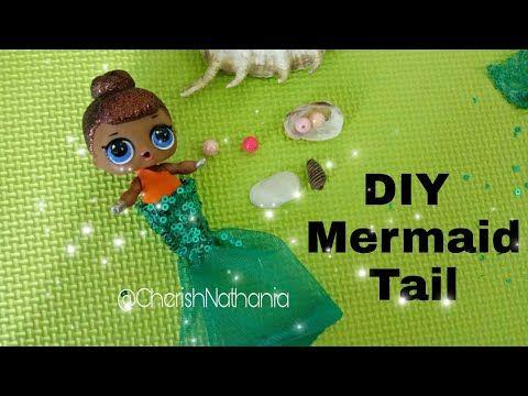 Cara Membuat Boneka LOL Surprise Mermaid - DIY LOL Surprise Dolls's Mermaid Tail - YouTube