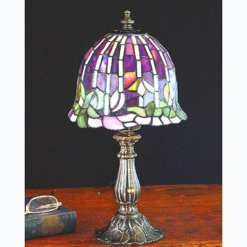 Meyda Tiffany 26647 Stained Glass Accent Table Lamp From The Flowering