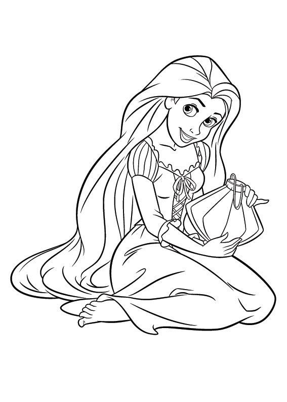 Rapunzel Coloring Pages 12 Rapunzel Coloring Pages Disney Princess Coloring Pages Tangled Coloring Pages