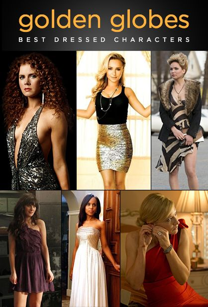 Golden Globes Best Dressed Characters
