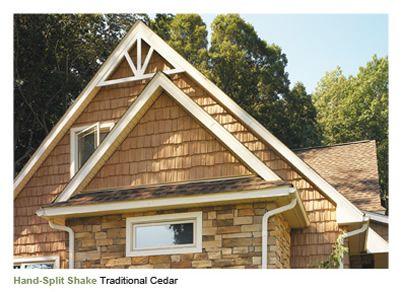 Cedar Shake Cottage Nailite 174 Vinyl Shakes Roughsawn