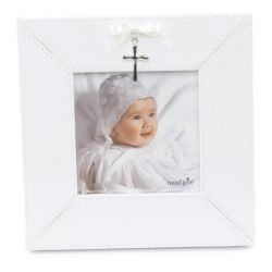 white cross charm frame