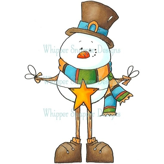 Stick Snowman - Fall/Winter 2012 - Rubber Stamps
