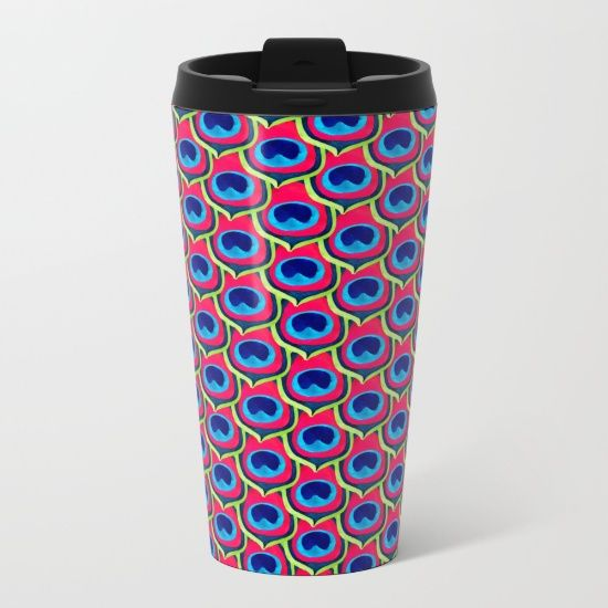 Retro Peacock Metal Travel Mug #peacock #mug #travel #coffee