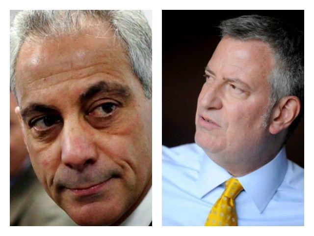 Rahm Emanuel and Bill de Blasio fight against legislation that would recognize national concealed carry reciprocity for law-abiding citizens.