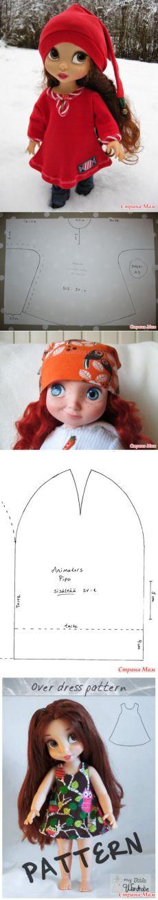 Немного новых выкроек для малышек Disney Animators' Collection - Куклы Дисней.... - Страна Мам