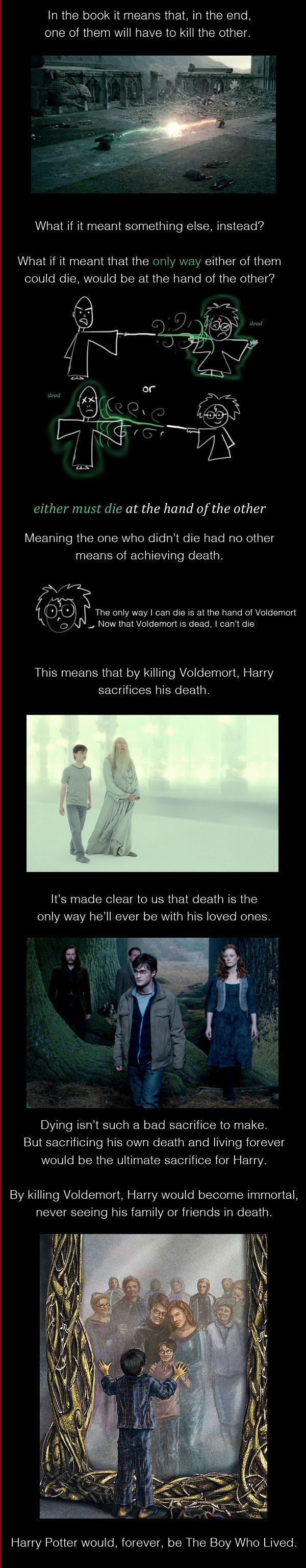 Trewlaney's prophecy actually means Harry Potter is immortal, and will never be reunited with his parents. | The 14 Most Indisputable Fan Theories Of 2014......WTF!!!