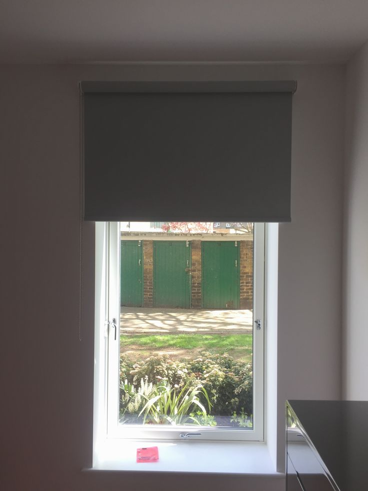 Blackout Roller Blind For Bedroom Window In Lambeth | Made To Measure |  Slate Grey Colour