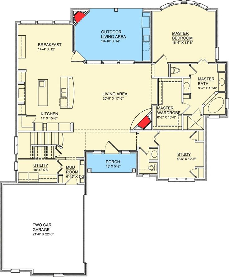 House Plans Butlers Pantry Mudroom on Rambler House Plan