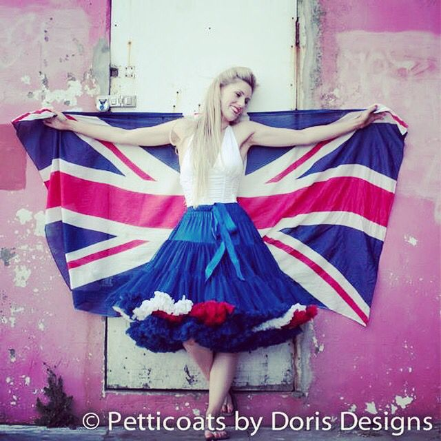 #happybirthdayyourmajesty #petticoats #queens90birthday #love #unitedkingdom #vintagefashion www.dorisdesigns.co.uk