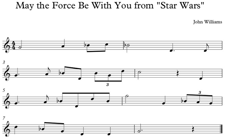 Once my students earn a black belt in recorder, they earn more belts. This belt is the Star Wars Belt.