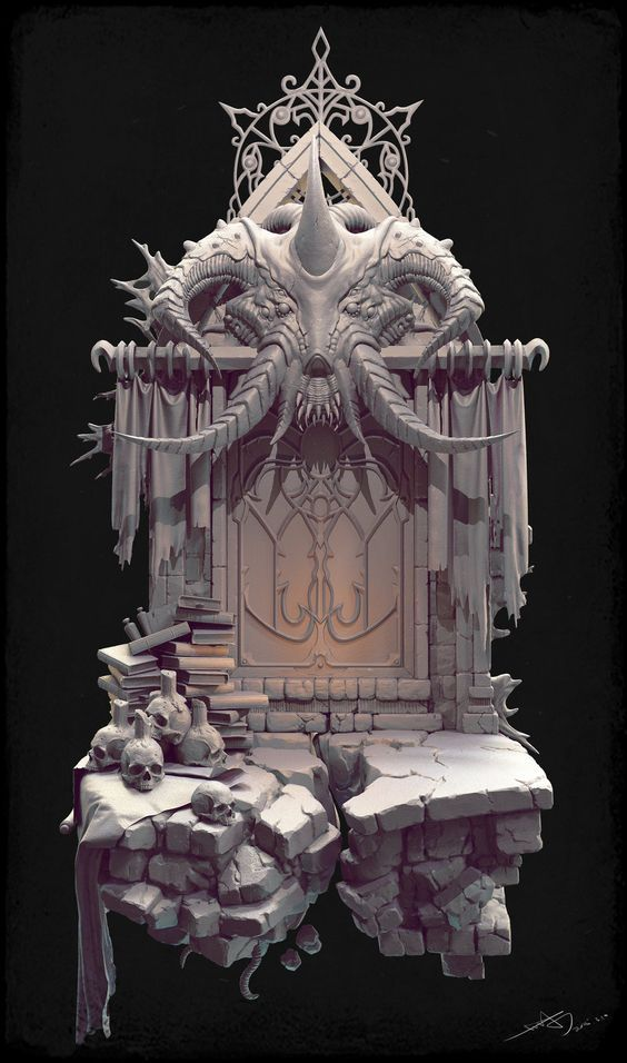 Biologicaldoor_hi, fechin hu on ArtStation at https://www.artstation.com/artwork/biologicaldoor_hi: