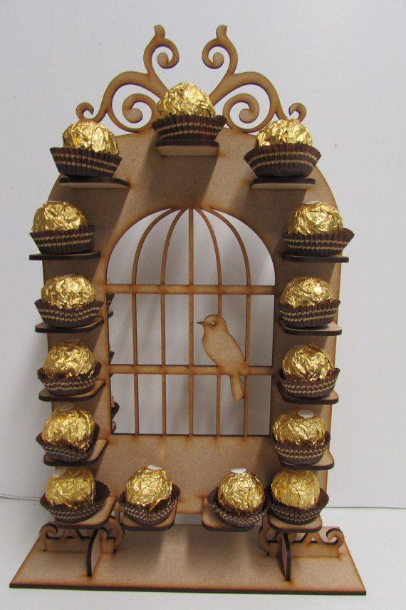 Amazing Birdcage shape Ferrero rocher stand wedding party centrepiece