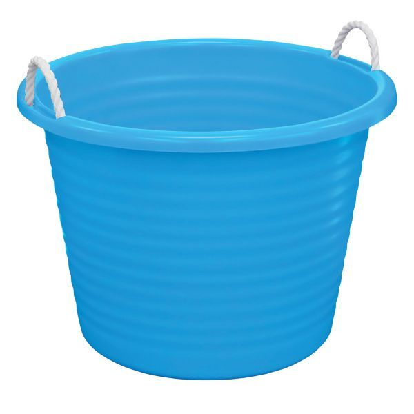 blue plastic tub with rope handles products plastic and tubs. Black Bedroom Furniture Sets. Home Design Ideas